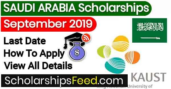 KAUST scholarship 2019, 2020 in Saudi Arabia For non Saudis For MS, PhD & PhD. KAUST Scholarships . Saudi Arabia new scholarship 2019 for Pakistani Students