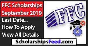"Latest ""FFC Scholarships September 2019"" for Matric, Bachelor, Graduate- ""Scholarships Feed"""