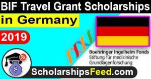 Scholarships in Germany for International Students 2019, BIF Travel Grant