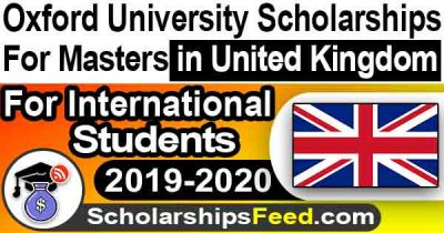 Oxford University Scholarships in UK 2019-2020 – Pershing Square Scholarship for Master