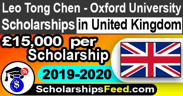 Oxford University Scholarships in UK for international students 2020 Leo Tong Chen for MBA. Oxford university scholarship 2020. United Kingdom Scholarships - Scholarships Feed