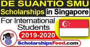 DE Suantio SMU Scholarships Singapore 2019-2020 For International Students
