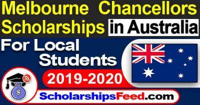 Melbourne Chancellor's Scholarship 2020