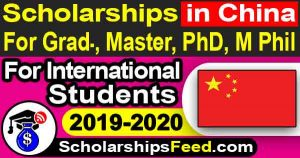 Latest Scholarships in China for International Students 2019-2020. Scholarships in China for 2019-2020, China Scholarships Council. China Scholarships 2020