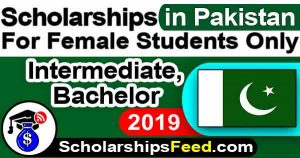 Scholarships 2019 Pakistan for Bachelor & intermediate, Female Students in Math