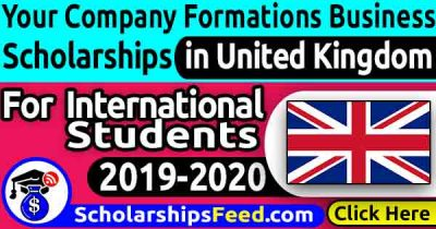 Your Company Formations Business Scholarship 2019/2020 in UK
