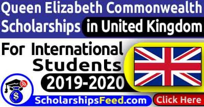 Commonwealth Scholarship 2020. Click To Apply For Queen Elizabeth Commonwealth Scholarship 2020