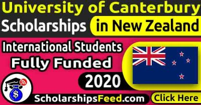 University of Canterbury Scholarships 2020 for International students Fully Funded. Get University of Canterbury Scholarships 2020 in New Zealand