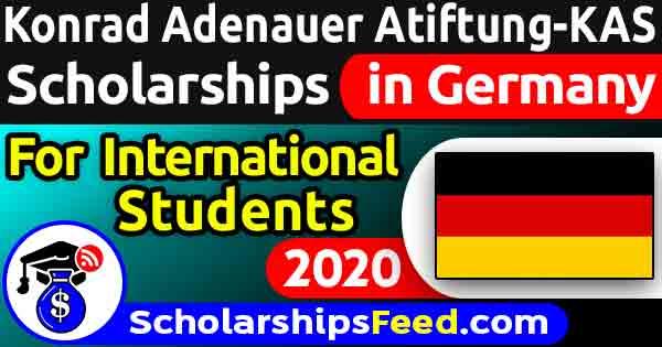 Konrad Adenauer Stiftung Scholarship 2020 - KAS Scholarship