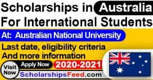Australian National University Scholarship 2020-2021 For international students