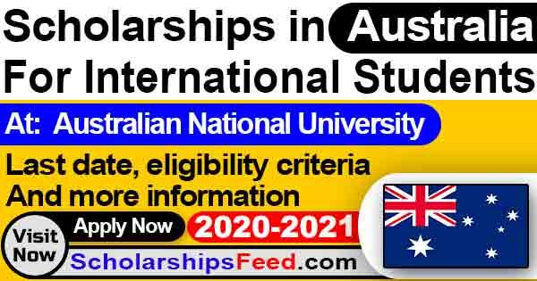 Australian National University Scholarship 2020-2021 For international students