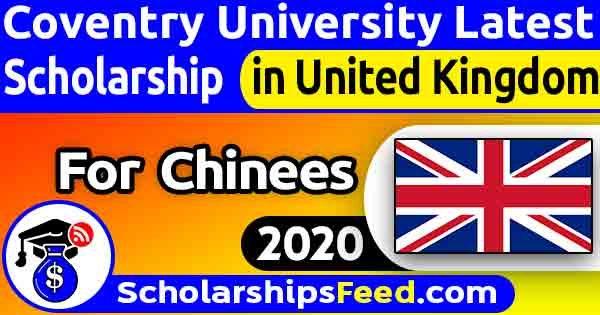 Coventry University Scholarship 2020