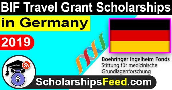 Scholarships in Germany for International Students 2019, BIF Travel Grant